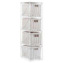 Tesco Wicker 4 Drawer Tower
