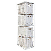 Tesco Wicker 4 Drawer Tower White