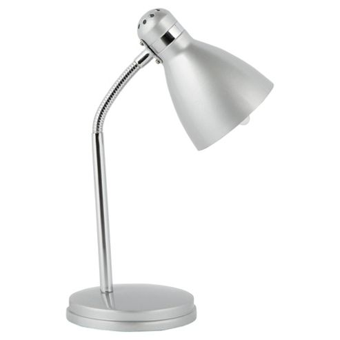 Tesco Lighting Metal Desk Lamp, Silver