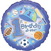 18' 1st Birthday All Star Foil (each)