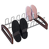 Tesco 9 Pair Metal/Wood Shoe Rack