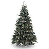 6ft Freemont Green Pine Artificial Christmas Tree with Cones