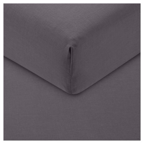 Tesco Fitted Sheet Double, Steel Grey