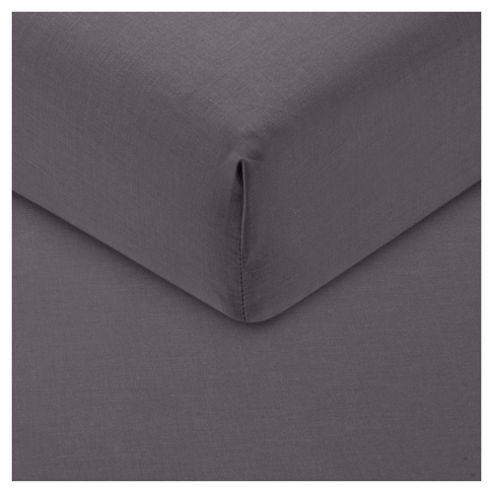 Tesco Fitted Sheet Double, Steel Grey