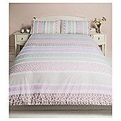 Tesco Ditsy Floral Duvet Cover And Pillowcase Set - Multi & White