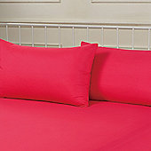Brentfords Plain Dye Pillowcase, Pair - Pink