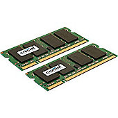 4GB (2GBx2) DDR2 800MHz PC2-6400 200-pin SODIMM CL6 Unbuffered NON-ECC Memory Module (Kit Of 2)
