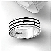 Sterling Silver Oxidised Gents Ring, Small