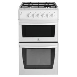 Indesit KD3G2SWIR White Twin Cavity Gas Cooker