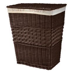 Darks & lights laundry basket chocolate