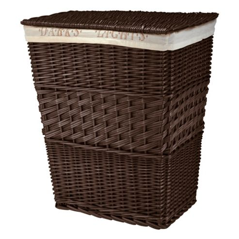 Darks & Lights Willow Laundry Basket, Chocolate