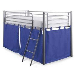 Mika Midsleeper Bed Frame with Cover, Blue