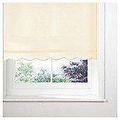 Sunflex Scalloped Edge Roller Blind, Cream 90Cm