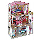 Evie and Jack Large Dolls House with Furniture (1.17m Tall)