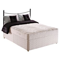 Sealy Posturepedic Silver Dream Double Non Storage Divan Bed