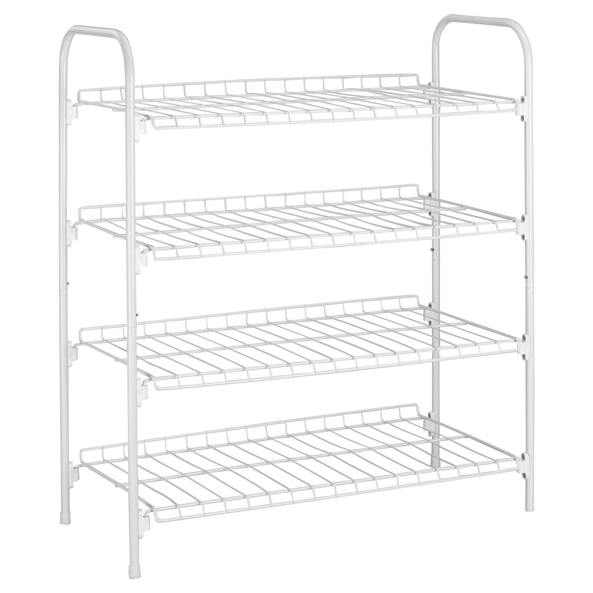 Other 4 tier white shoe rack
