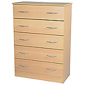 Welcome Furniture Avon 5 Drawer Chest - Light Oak