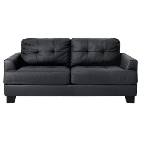 Utah Leather Sofa Large, Black