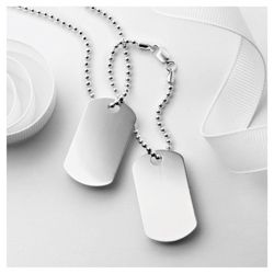 Sterling Silver Double Dog Tags