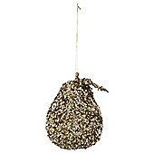 Gold Sequin Pear Christmas Tree Decoration