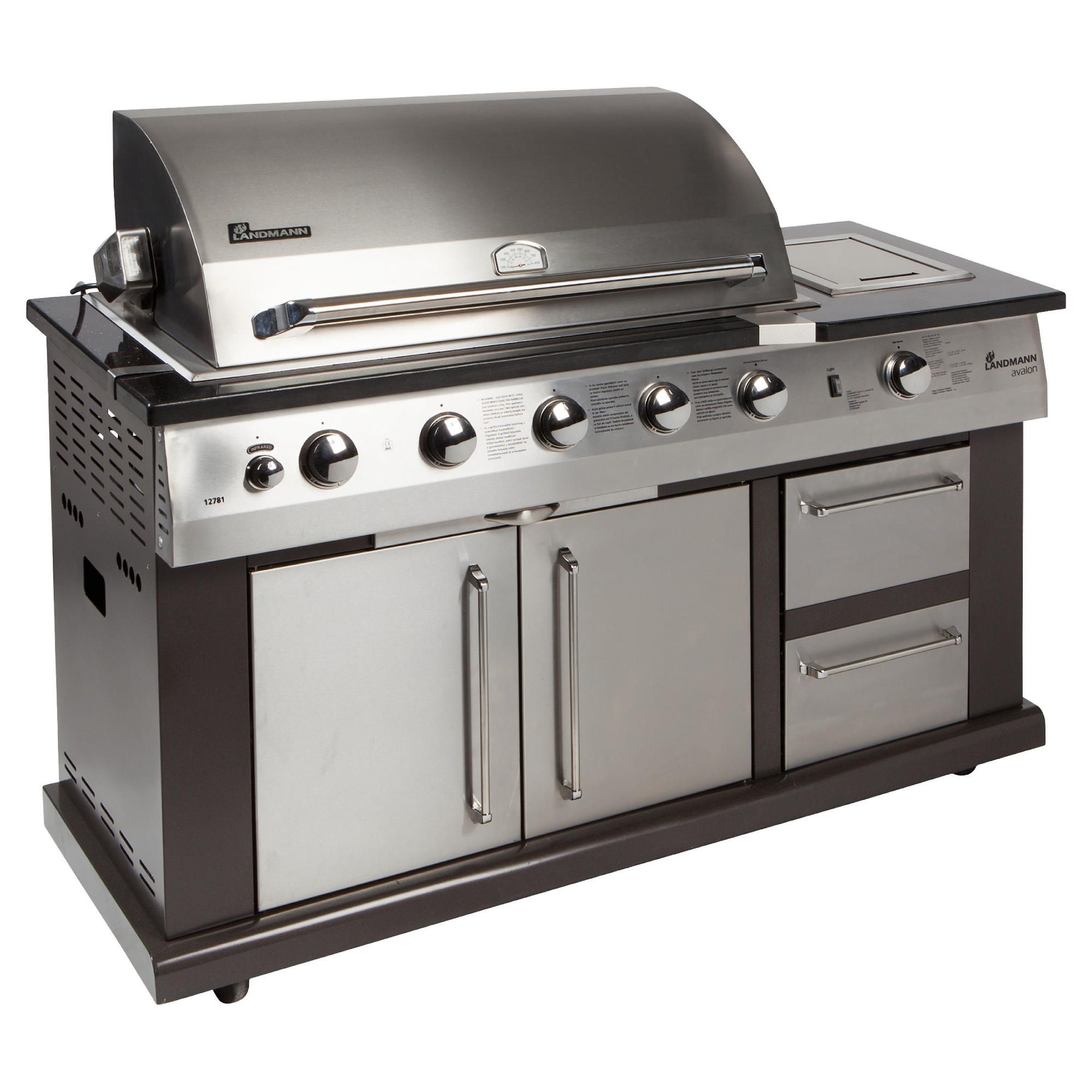 Landmann Avalon 5 Burner Gas BBQ with Infra-red Rotisserie at Tesco Direct