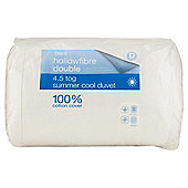 Tesco Standard Cotton Cover Double Duvet 4.5 Tog