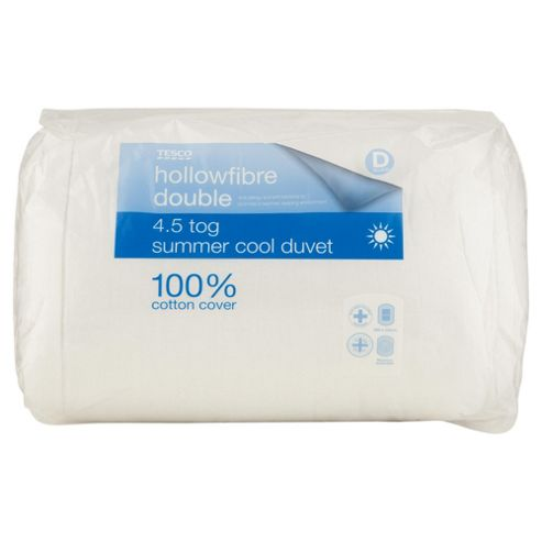 Tesco Standard Cotton Cover 4.5 Tog Duvet Double