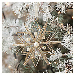 Pearl Star Christmas Tree Decoration