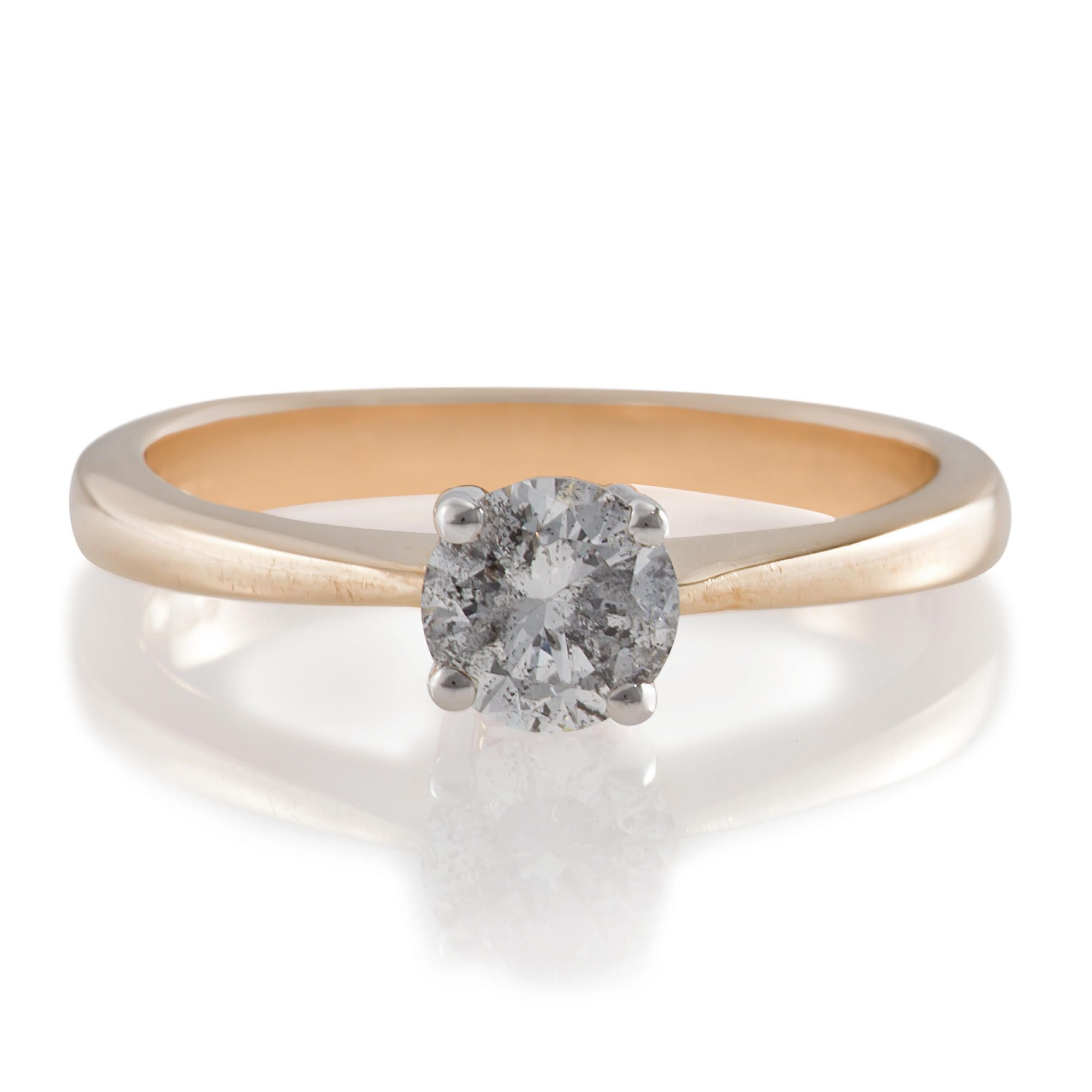 9ct Gold 50Pt Diamond Solitaire Ring, P at Tesco Direct