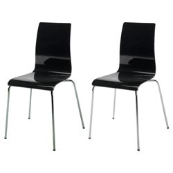 Pair of Padova chairs, black
