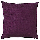Tesco Plain Chenille Cushion, Plum