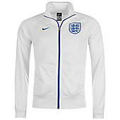 2014-15 England Nike Core Trainer Jacket (White) - White
