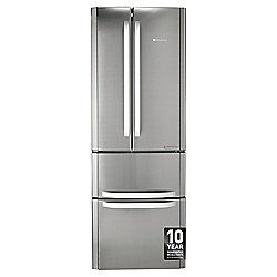 Hotpoint FFU4DX Freestanding Fridge Freezer, 70cm, A+ Energy Rating, Inox