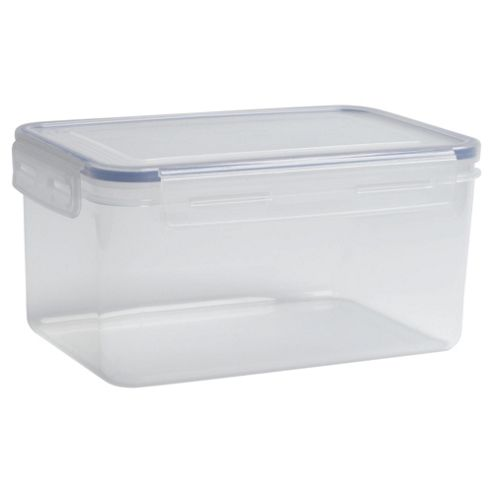 Tesco Klip Fresh 2.4L Rectangular Food Container