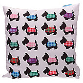 Lauren Billingham Scottie Dog Printed Scatter Cushion