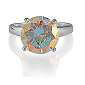 Sterling Silver Ab Cubic Zirconia Ring, Large
