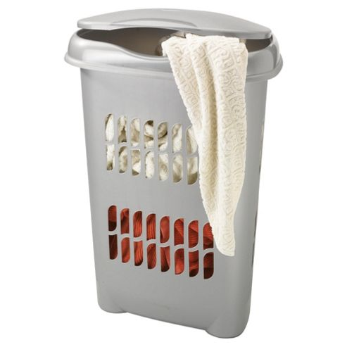 Silver 50L Laundry Basket