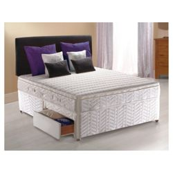 Sealy Posturepedic Silver Dream King 2 Drawer Divan Bed