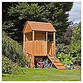 Mercia 4ft x 4ft Stockade / Lookout Wooden Playhouse