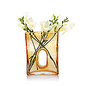 House Additions Bliss Square Vase - Amber - Large