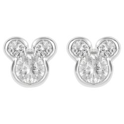 Disney Mickey Cubic Zirconia Stud Earrings