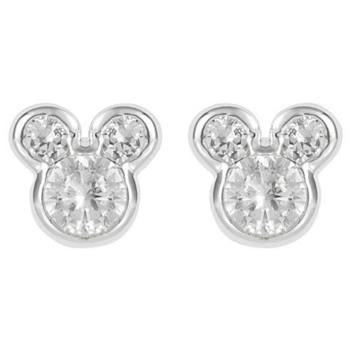 Disney Mickey Cubic Zirconia Stud Earrings