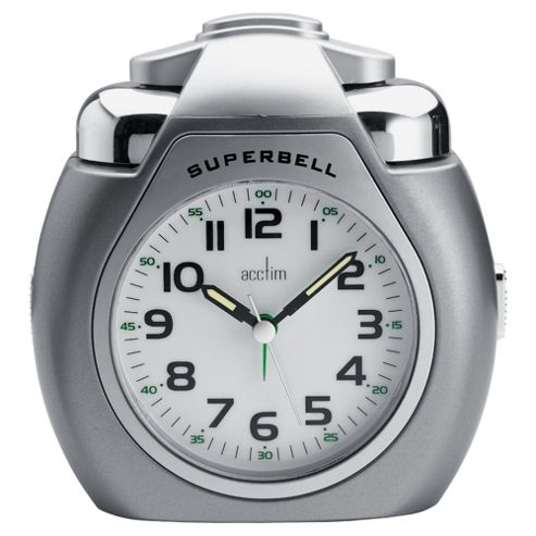 Acctim Superbell Titanium Colour Alarm Clock
