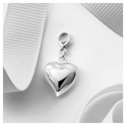 Sterling Silver Puff Heart Charm