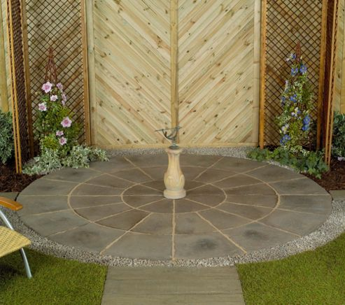 Stamford Pewter Circle Patio Kit