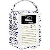 View Quest Emma Bridgewater Retro Mini DAB+/FM Radio with Bluetooth (Blue Daisy)