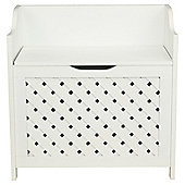 Sheringham White Wood Weave Storage Seat