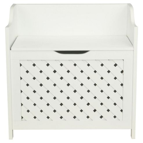 Sheringham White Wood Weave Storage Unit