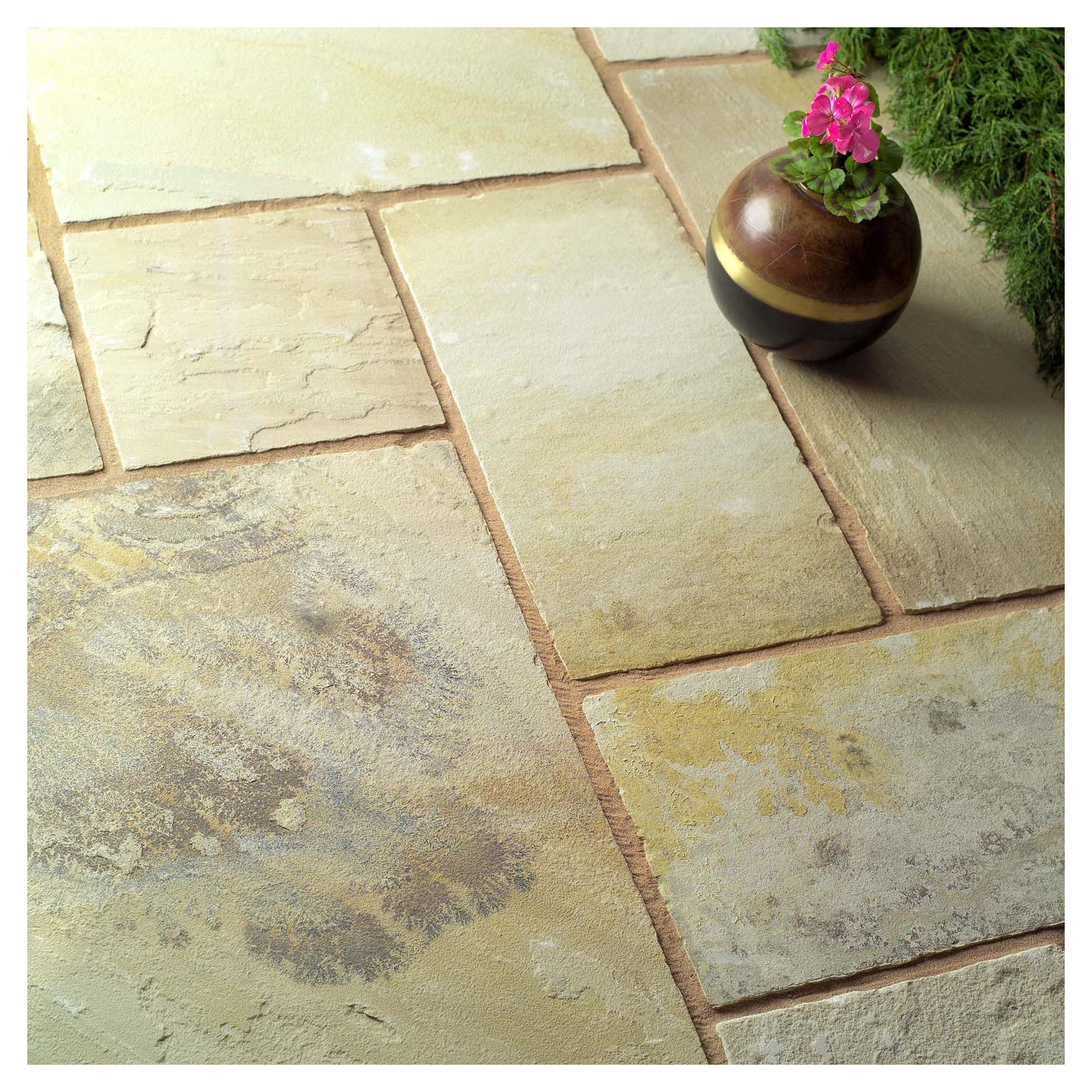 Natural Fossilstone Patio Kit 11.52m2 at Tesco Direct