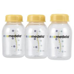 Medela Breastmilk Storage Bottles with lid (3pcs) 150ml